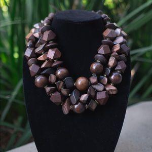 Handmade Wooden Statement Necklace